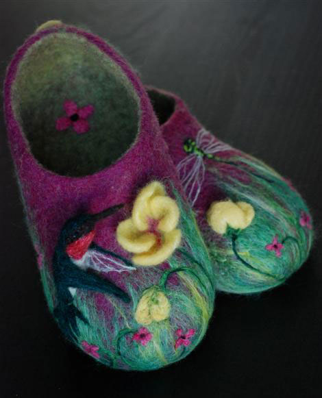 felted slippers kit  wet felting slippers or booties