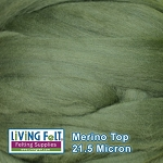 Merino Top - 21.5 Micron - Bottle Green