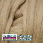 Merino Top – 21.5 Micron - Cafe Au Lait