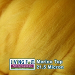 Merino Top – 21.5 Micron - Lemon