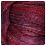 Merino Top – Cranberry Multi Colored