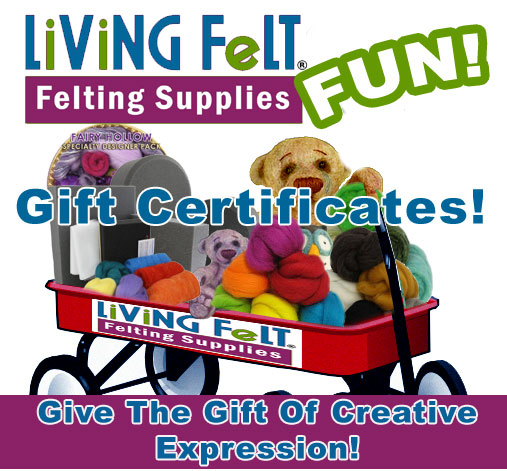 Felting Supplies Gift Certificate