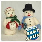 Needle Felting Kit: Snow Man