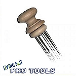 Felting Needle Tool - Wooden: HOLDS 1 to 6 Felting Needles