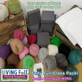 Felting Class Pack 200: Needle Felting 2D INTRODUCTORY