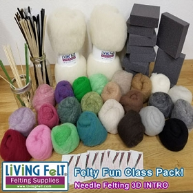 Felting Class Pack 300: Needle Felting 3D INTRODUCTORY