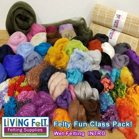 Felting Class Pack 400: Wet Felting INTRODUCTORY