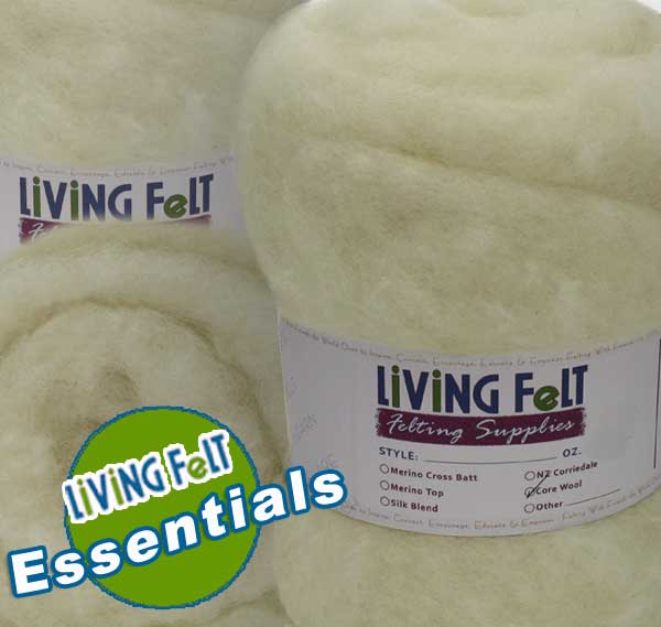 Core Wool for Needle Felting  and Wet Felting