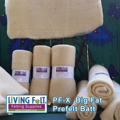 prefelt or pre-felt batt for felting
