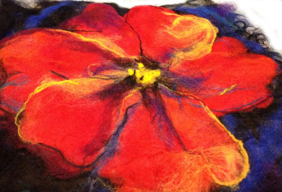 Needle Felted Flowers