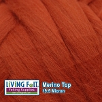 Merino Top – 19.5 Micron - Burnt Orange