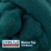 Merino Top – 19.5 Micron - Evergreen