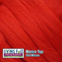 Merino Top –  19.5 Micron - Red