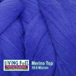 Merino Top – 19.5 Micron - Royal Blue