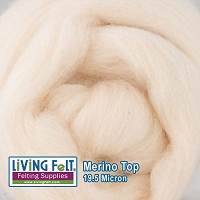 Merino Top – 19.5 Micron - White Peach