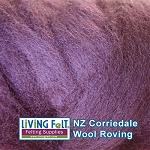 NZ Corriedale Wool  –Lilac Haze