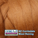 NZ Corriedale Wool  – Toffee