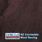 NZ Corriedale Wool  – Eggplant