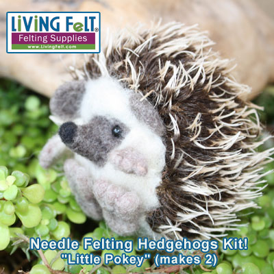Needle Felting a Hedgehog KIT!
