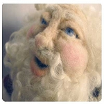 Needle Felting A Santa Doll Workshop or Kit