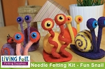 Needle Felting Kit: Needle Felting A Snail