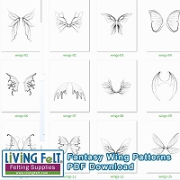 Fantasy & Fairy Wings Patterns PDF DOWNLOAD