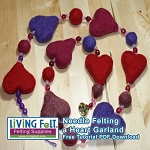 FREE Needle Felting Tutorial: Felted Heart Garland - PDF DOWNLOAD