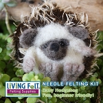 Needle Felting Kit: Hedgehog Babies