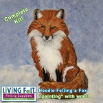 Needle Felting Kit: 2D Fox Painting with Wool