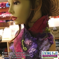 Nuno Felting a Neck Warmer Free Video Tutorial