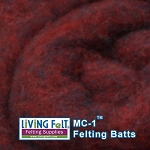 MC-1™    Merino Cross Batt – Black Cherry