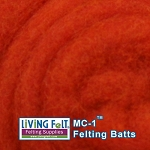 MC-1    Merino Cross Batt  Hot Orange