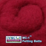 MC-1™    Merino Cross Batt – Pomegranate