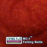 MC-1    Merino Cross Batt  Red Grapefruit