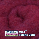 MC-1™    Merino Cross Batt – Red Indigo