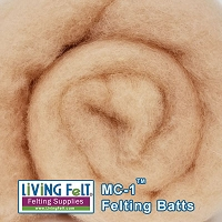 MC-1™    Merino Cross Batt – PALE PEACH