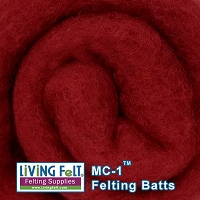 MC-1™    Merino Cross Batt – Vintage Red