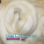 Mohair Top Fine White