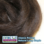 Alpaca Roving - Dark Brown