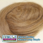 Alpaca Roving - Light Brown