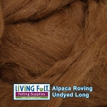 Alpaca Roving - Undyed Red
