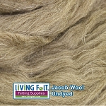 Jacob Wool Roving - Undyed