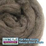 Yak Roving - Natural Brown