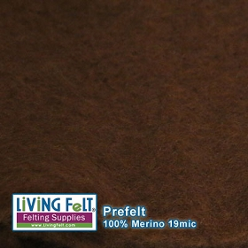 Prefelt 100% Merino Wool  19.5 Micron   Milk Chocolate