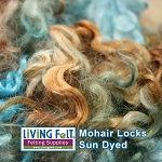 Sun Dyed Premium Mohair Locks Beach Comber