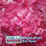 Sun Dyed Premium Mohair Locks Pretty in Pink