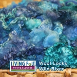Dyed Curly Locks - Sheep's Wool - Wild River