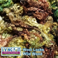 Dyed Curly Locks - Sheep's Wool - Wild Wood