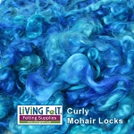 Sun Dyed Premium Mohair Locks  Bali Blue