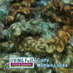 Sun Dyed Premium Mohair Locks Emerald Forest